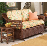 Sea Harbor Natural Wicker Glider Loveseat -
