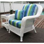 Laguna Beach Resin Wicker Chair  - WHITE