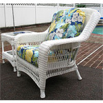 Palm Springs Resin Wicker Chair  - WHITE