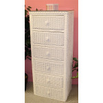 Traditional Wicker Lingerie Chest - WHITE