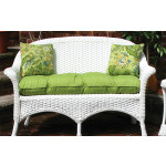 Sunbrella Fabric Wicker Loveseat Cushion -