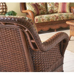 Autumn Morning Rattan Framed Natural Wicker Chair -