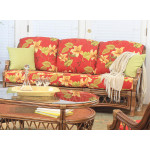 Bordeaux Natural Rattan Sofa  - CINNAMON