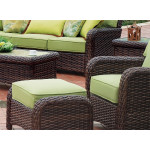St Croix All Weather Outdoor Resin Wicker Chair - TOBACCO