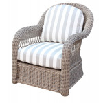 Basketweave All Weather Outdoor Resin Wicker Chair - DRIFTWOOD