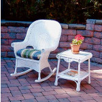 Natural Wicker Rocking Chairs, High Back Diamond Style -