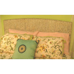 Water Hyacinth King Wicker Headboard - WHITEWASH