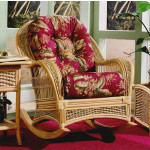 Fiji Wicker  Rocking Chair  - CINNAMON