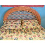 Arch  Full/Queen  Wicker Headboard - CARAMEL