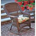 Belair Resin Wicker Rockers, Antique Brown -