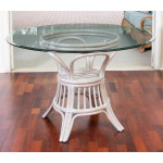 (5) Piece Trinidad Rattan Dining Set (2 finish choices) Arm & Side Chairs - RUSTIC DRIFTWOOD