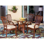 (5) Piece Trinidad Rattan Dining Set (2 finish choices) Arm & Side Chairs - 4-ARM SIENNA