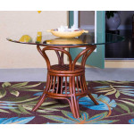 (5) Piece Trinidad Rattan Dining Set (2 finish choices) Arm & Side Chairs - SIENNA-TABLE
