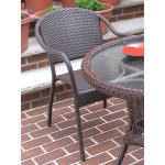 Resin Wicker Bistro Chair - ANTIQUE BROWN