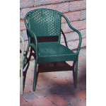 Resin Wicker Bistro Chair - HUNTER GREEN