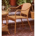 Resin Wicker Bistro Chair - GOLDEN HONEY