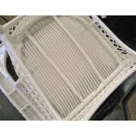 Belair Resin Wicker Swivel Glider Chairs, White -