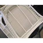 Madrid Resin Wicker Rocking Chairs, White -