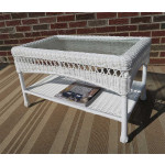 Belaire Resin Wicker Cocktail or Coffee Table  - WHITE