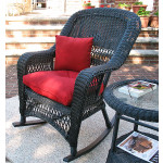 Belair Resin Wicker Rockers  - BLACK