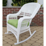 Belair Resin Wicker Rockers  - WHITE