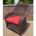 Belair Resin Wicker Swivel Glider Chairs  - ANTIQUE BROWN