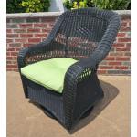 Belair Resin Wicker Swivel Glider Chairs  - BLACK
