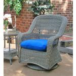 Belair Resin Wicker Swivel Glider Chairs, Driftwood -