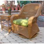 Belair Resin Wicker Swivel Glider Chairs  - GOLDEN HONEY