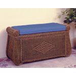 Wicker Trunks ,Blanket Chest with Seating (Cushion separate purchase-below) - COFFEE
