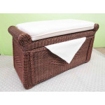 Wicker Blanket Chest or Trunk, Wood Lined - TEAWASH