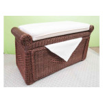 Wicker Trunks, Blanket Chest with Seating (Cushion separate purchase-below) Tea Wash -