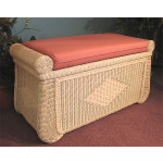 Wicker Blanket Chest or Trunk, Wood Lined - WHITEWASH