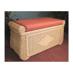 Wicker Trunks, Blanket Chest with Seating (Cushion separate purchase-below) White Wash -