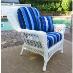 Barcelona Resin Wicker Chair  - WHITE
