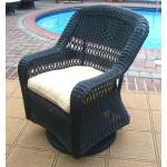 Belair Resin Wicker Swivel Glider Chairs, Black -