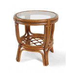 Delta Round Side Table with Glass Top -