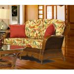 Casa Blanca  Rattan Love Seat - MAHOGANY