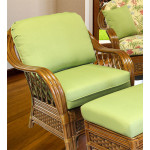 Coconut Beach Natural Rattan Chair - MAHOGANY