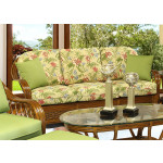 Coconut Beach Natural Rattan Sofa  - MAHOGANY