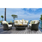 Castaway 5 Piece All Weather Resin Seating Collections -