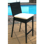 Caribbean Resin Wicker Bar Stools with Cushion $229.95 each (Min 4 SPECIAL) - BLACK