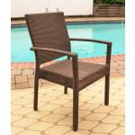 Caribbean Dining Arm Chair - COFFEE BROWN
