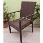Caribbean Dining Arm Chair & Cushion, Min. 2 - ESPRESSO BROWN