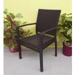 Caribbean Dining Arm Chair - ESPRESSO BROWN