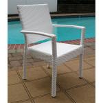 "Caribbean Resin Wicker Dining Set 96"" Rectangular 10 Chairs - White Resin Dining Chairs, Caribbean"