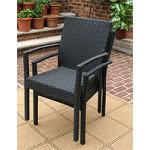 Caribbean Dining Arm Chair & Cushion, Min. 2 - BLACK STACK