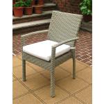 Caribbean Dining Arm Chair & Cushion, Min. 2 - DRIFTWOOD