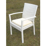 Caribbean Dining Arm Chair & Cushion, Min. 2 - WHITE