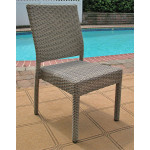 Caribbean Resin Wicker Dining Side Chair, Minimum 2 - DRIFTWOOD